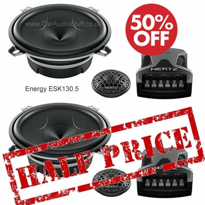 Hertz Energy 2 Way 130mm Component Speaker Set with Grill ESK-130