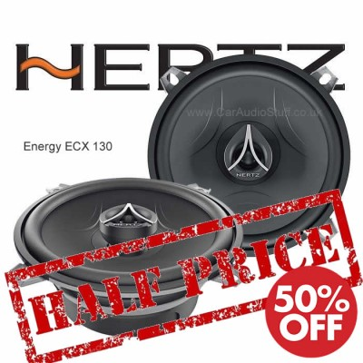 "Hertz Energy 2-Way Coaxial Car Speakers 13cm / 5.25"" ECX-130"