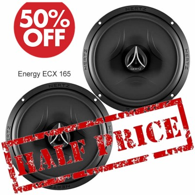 "Hertz Energy 2-Way Coaxial Car Speakers 16.5cm / 6.5"" ECX-165"