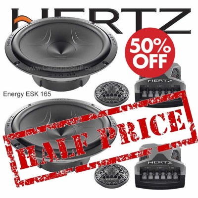 Hertz Energy 2 Way 165mm Component Speaker set with Grilles ESK 165