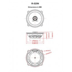 "Retrosound Pair of Ultra thin 5.25"" Coaxial Car Speakers 80w R-525N"